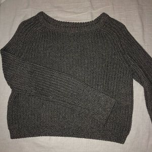 AA CROPPED AMERICAN APPAREL FISHERMANS SWEATER